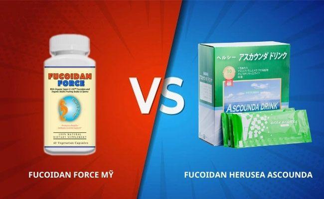 So sánh Fucoidan Force Mỹ với Fucoidan Ascounda