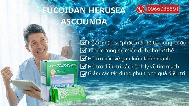 Fucoidan Herusea Ascounda hỗ trợ điều trị ung thư